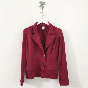CABI Outing Blazer Rhubarb Red Size 4